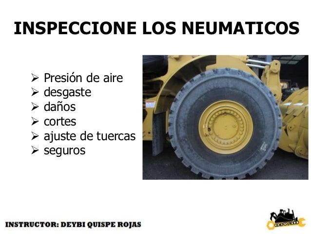 INSPECCIONE BRAZO DE LEVANTE CILINDROS  daños  pines  seguros  engrase