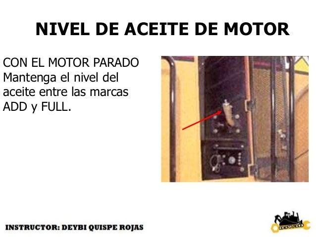 INSPECCIONE EL VENTILADOR  daños  acumulación de basura  motor hidrostático  mangueras  fugas