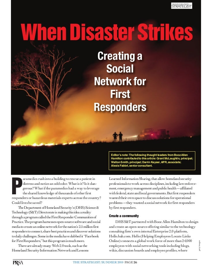 When Disaster Strikes                                                                Creating a                           ...