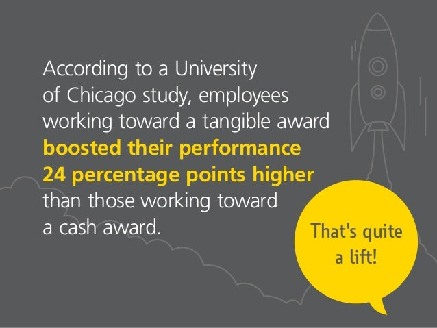 That's quite a lift! According to a University of Chicago study, employees working toward a tangible award boosted their p...