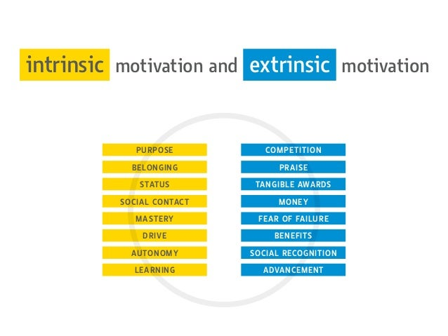 intrinsic motivation and extrinsic motivation PURPOSE BELONGING STATUS SOCIAL CONTACT MASTERY DRIVE AUTONOMY LEARNING COMP...