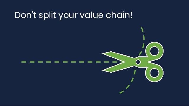 Don't split your value chain!