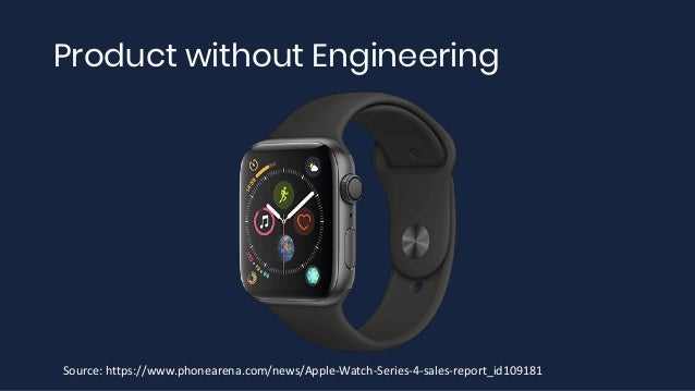 Product without Engineering Source: https://www.phonearena.com/news/Apple-Watch-Series-4-sales-report_id109181
