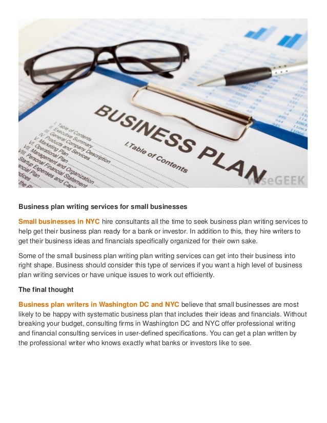 When And When Not To Hire Business Plan Writers Business Plan
