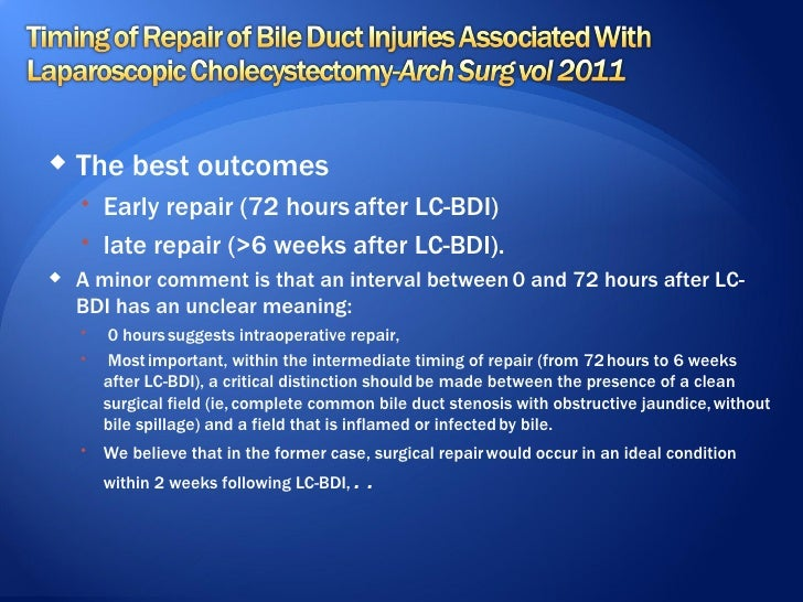 BILE DUCT INJURY__:PREVENTION :MANAGEMENT;When bad things happen to good surgeons fiazfazili skims  may262012