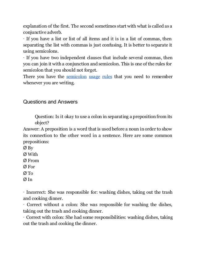 semicolon checker guide how to use a colon in a sentence rh slideshare net use tourist guide in a sentence use glide in a sentence