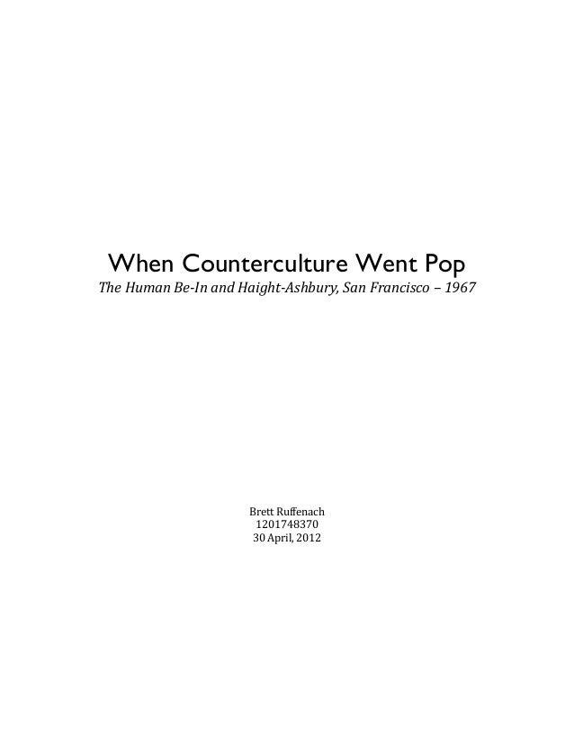 When Counterculture...