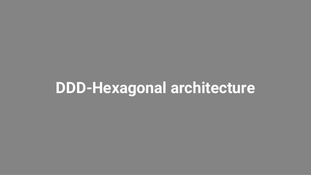DDD-Hexagonal architecture