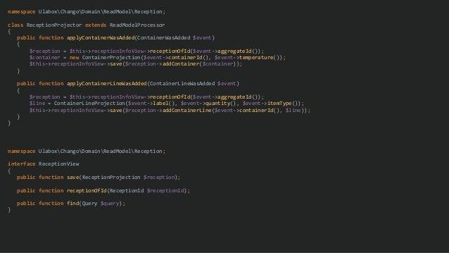 namespace UlaboxChangoDomainReadModelReception; class ReceptionProjector extends ReadModelProcessor { public function appl...