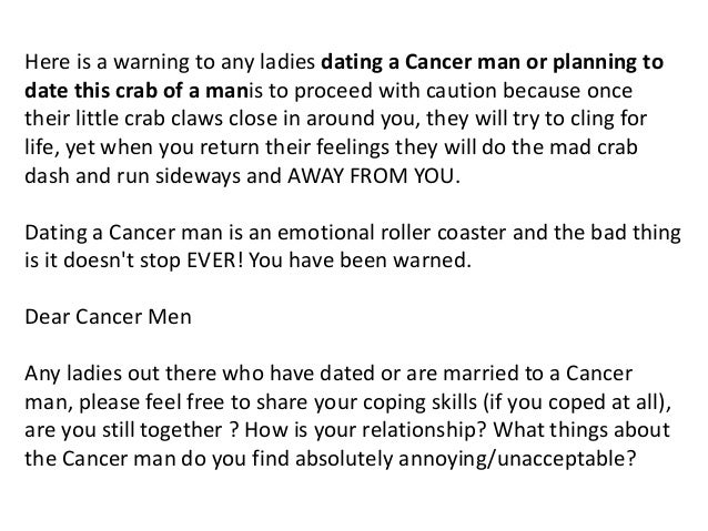 dating a man who had cancer