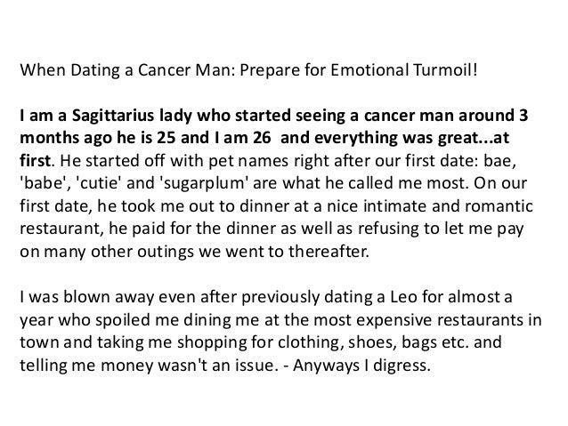 Dating en cancer man
