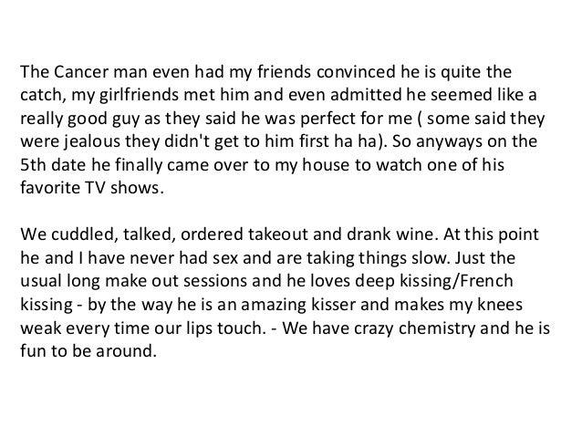 dating cancer man beginning