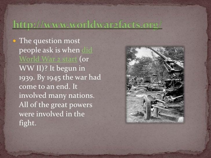 When did World War II start