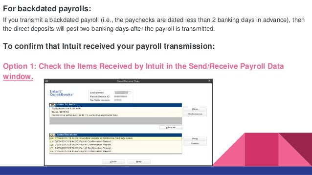 Backdating checks in quickbooks