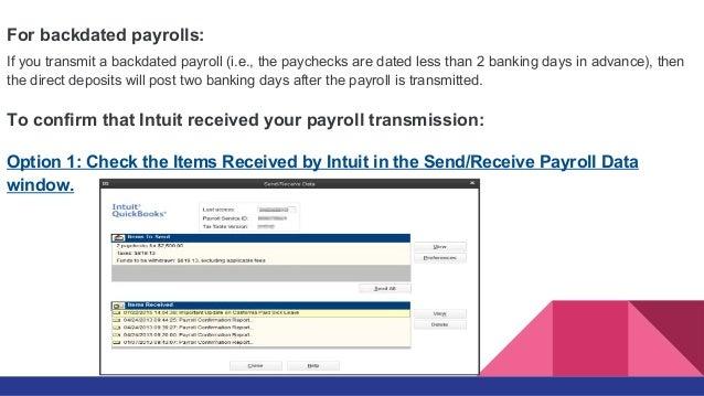 Backdating payroll companies