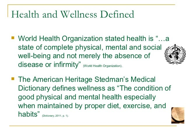 The Meanings of Health and its Promotion