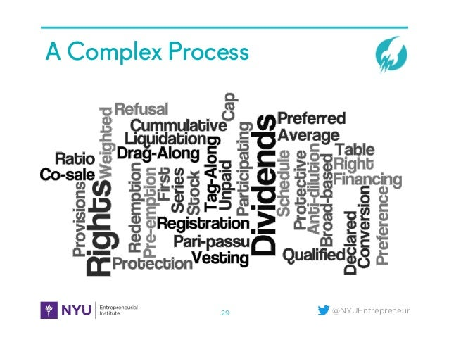 @NYUEntrepreneur A Complex Process 29