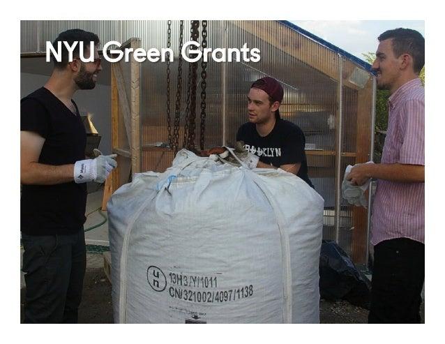 @NYUEntrepreneur49 NYU Green Grants