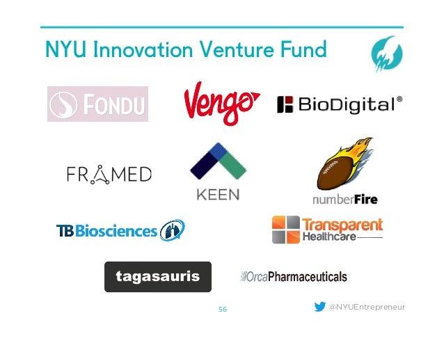 @NYUEntrepreneur NYU Innovation Venture Fund 56