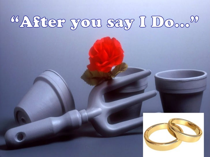 "When ""I Do""becomes ""I Don't"""