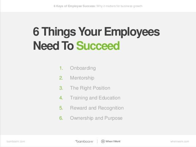 6 keys of employee success