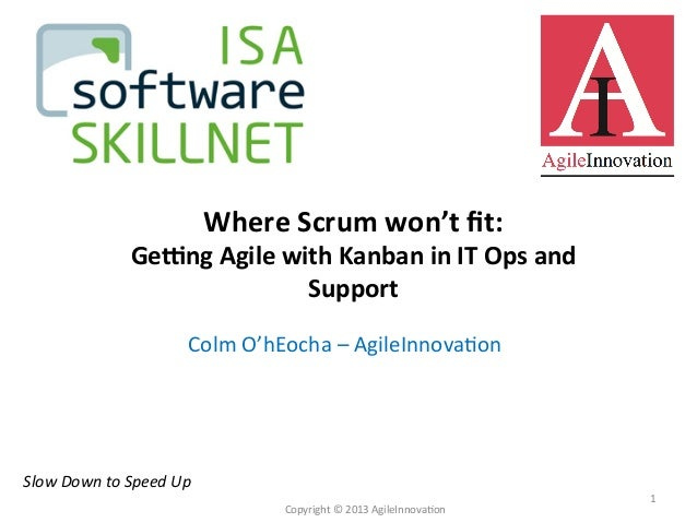 Colm	   O'hEocha	   –	   AgileInnova4on	    Slow	   Down	   to	   Speed	   Up	    Copyright	   ©	   2013	   AgileInnova4...
