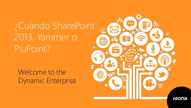 ¿Cuándo SharePoint 2013, Yammer o PiuPoint? Welcome to the Dynamic Enterprise