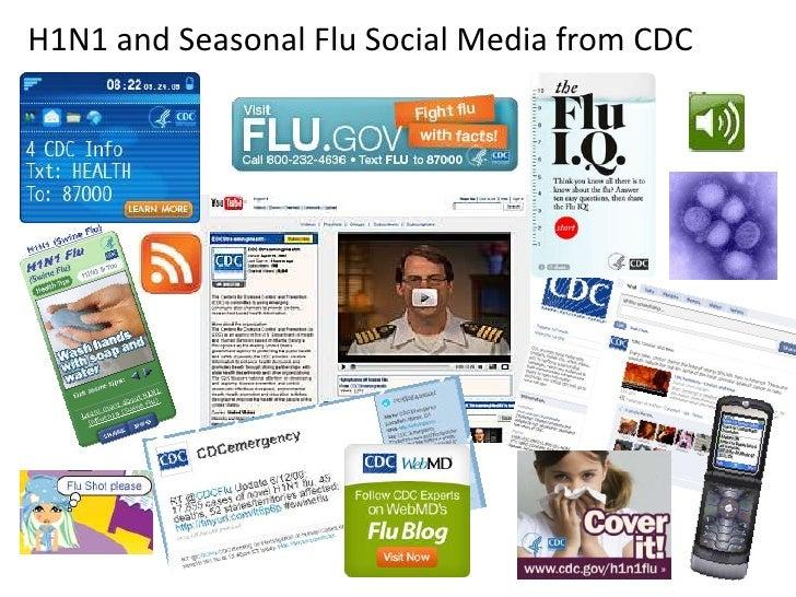 H1N1 and Seasonal Flu Social Media from CDC<br />