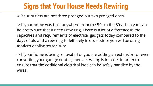 when to rewire your house