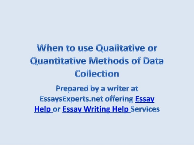 qualitative method essay