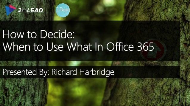 RICHARD HARBRIDGE My twitter handle is @RHarbridge, blog is http://RHarbridge.com, and I work at SPEAKER   AUTHOR   SUPER ...