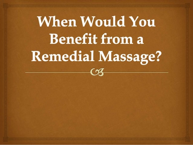 Most people who seek the services of a therapeutic massage therapist are doing so either in response to a specific, persis...