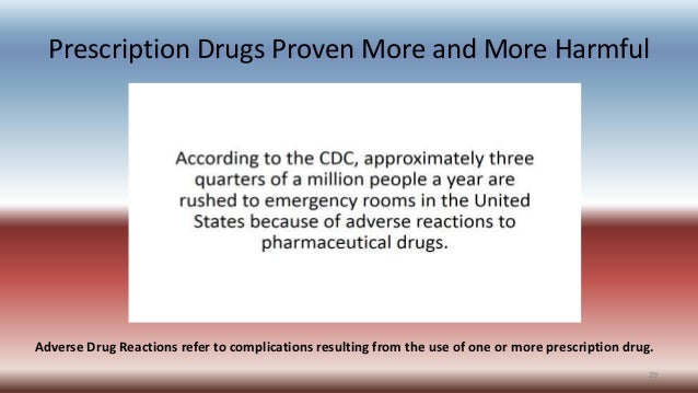 Prescription Drugs Proven More and More Harmful Adverse Drug Reactions refer to complications resulting from the use of on...