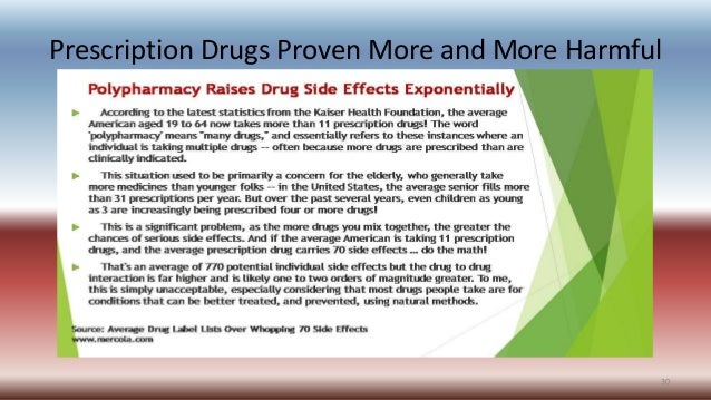 Prescription Drugs Proven More and More Harmful 30