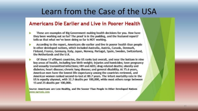 Learn from the Case of the USA 41