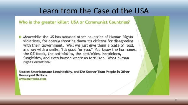 Learn from the Case of the USA 42
