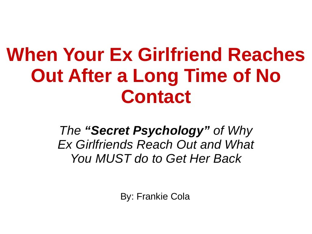 does no contact work to get ex girlfriend back