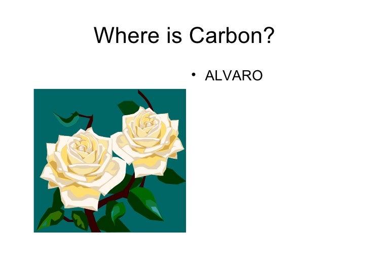 Where is Carbon? <ul><li>ALVARO  </li></ul>