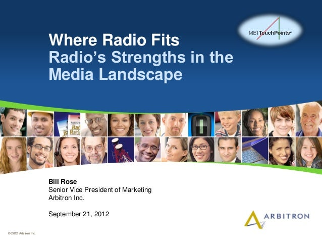 Where Radio Fits                       Radio's Strengths in the                       Media Landscape                     ...