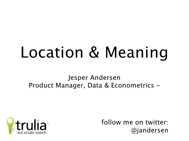 Location & Experience                          Jesper Andersen     Product Manager, Data & Econometrics                   ...