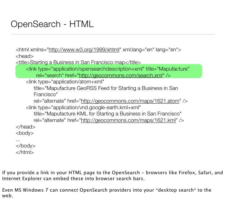 Description Document       <?xml version=quot;1.0quot; encoding=quot;UTF-8quot;?>       <OpenSearchDescription xmlns=quot;...