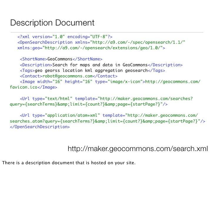 Pagination  <link type=quot;application/atom+xmlquot; rel=quot;firstquot; href=quot;http://geocommons.com/maps?limit=20&pa...