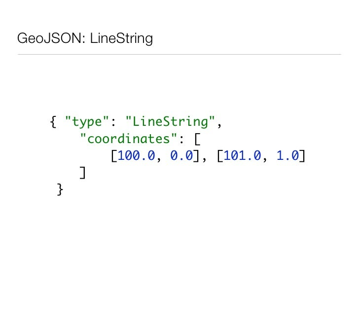 GeoJSON: MultiGeometry            { quot;typequot;: quot;GeometryCollectionquot;,               quot;geometriesquot;: [   ...
