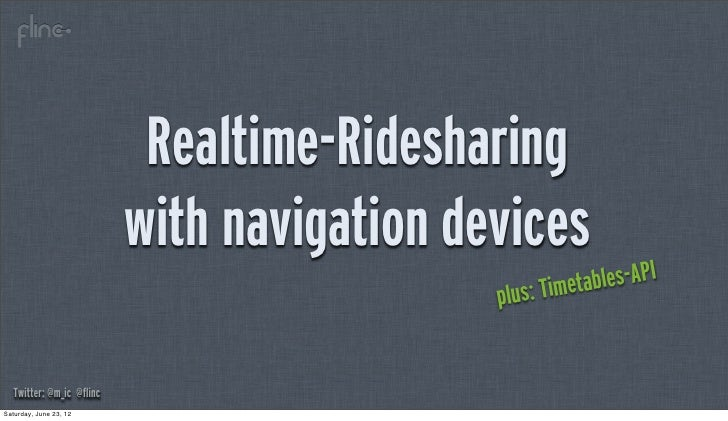 Realtime-Ridesharing                           with navigation devices                                                    ...