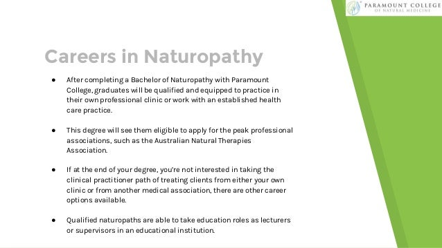Where Can A Bachelor of Naturopathy Take You - Paramount College