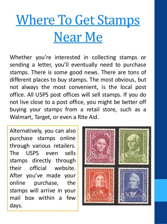 Where Can I Buy Stamps