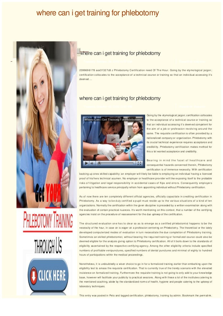 Where Can I Get Training For Phlebotomy