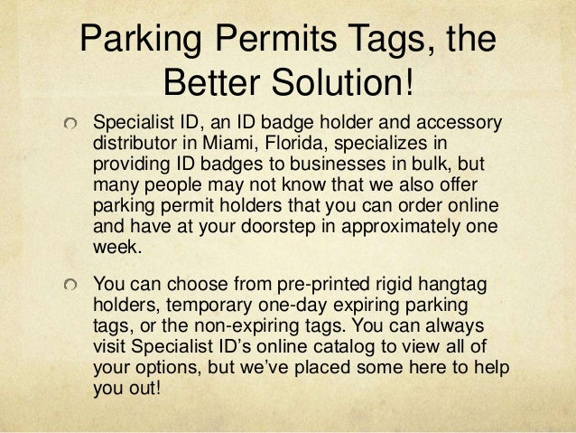 Where Can I Purchase Parking Permit Holders Online?