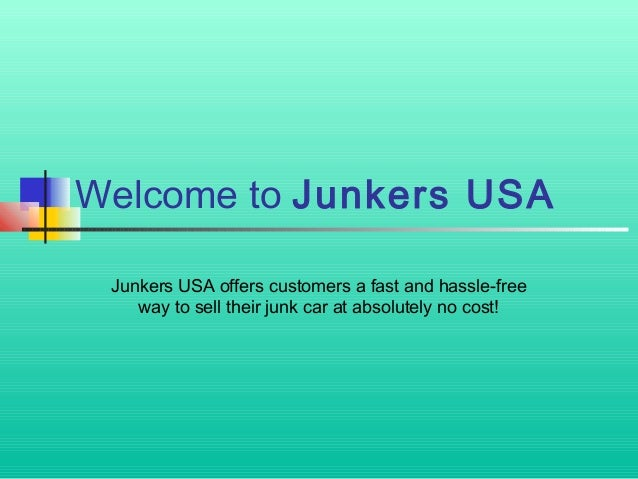 Where Can I Sell My Broken Car For Cash Junkers Usa