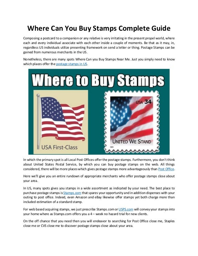 Where Can You Buy Stamps Complete Guide